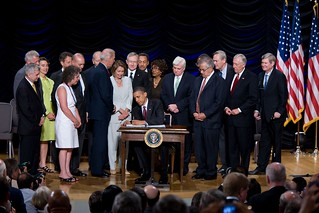 President Obama Signs the Dodd-Frank Wall Street Reform and Consumer Protection Act | by Speaker Nancy Pelosi