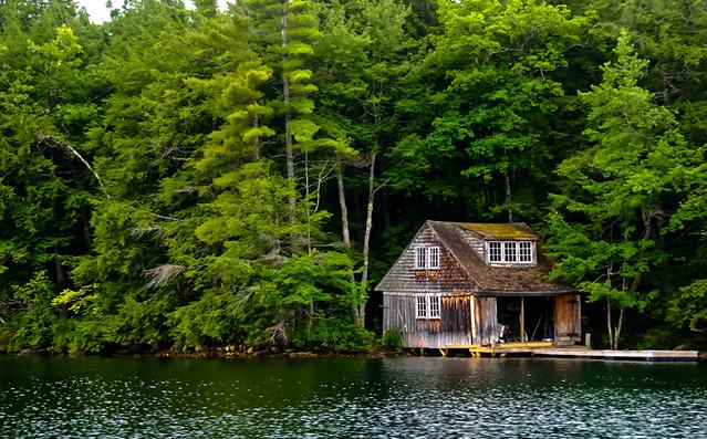 Old Boathouse - Kezar Lake, Maine
