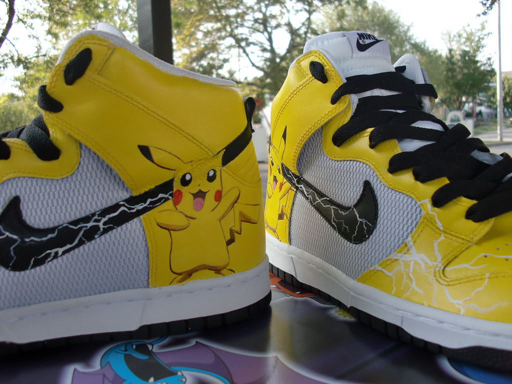 quality design 80381 ca25d Pokemon Pikachu Custom Nike Dunk Kicks | These Pokemon Pikac ...