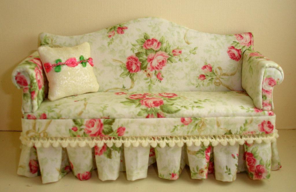 Shabby Chic Sofa 1 12th Scale Miniature Sofa With Box Plea