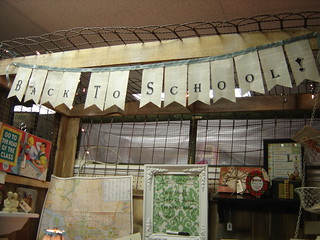 Tattered Nest - Back to School booth   by thingspondered