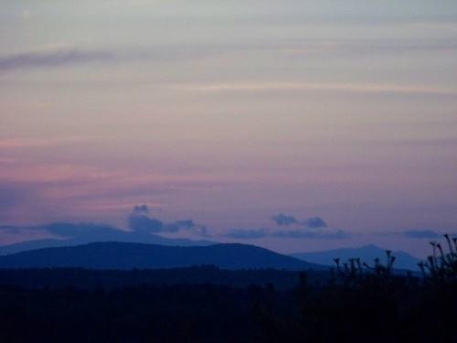 sunset mountains maine gorhammaine forthillpark