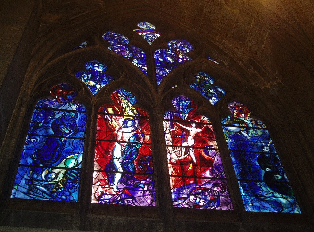 Chagall Window Metz Cathedral One Of A Pair Of North