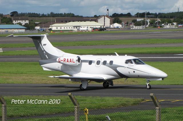 G-RAAL  Embraer 500 Prestwick August 2010