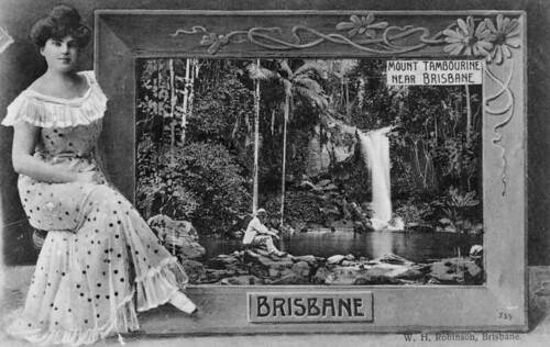 waterfalls postcards queensland hairstyles 1890s statelibraryofqueensland scenicviews mttamborine slq womensclothingaccessories