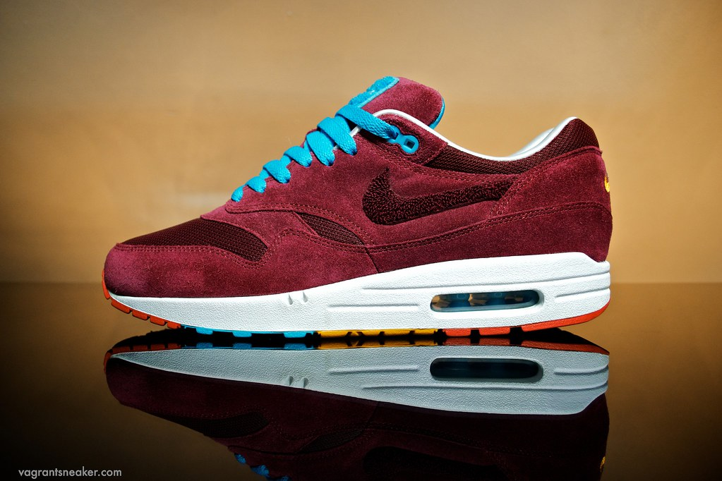 Details about Nike Air Max 1 Patta X Parra Cherrywood Burgundy US8 UK7 EU41 DS + Tee M DS