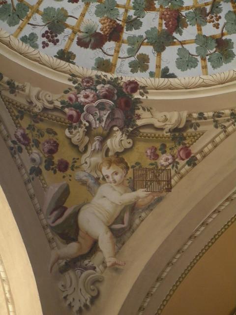 Affreschi del Chiostro (particolare) - Chiesa di Santa Caterina da Siena - Napoli