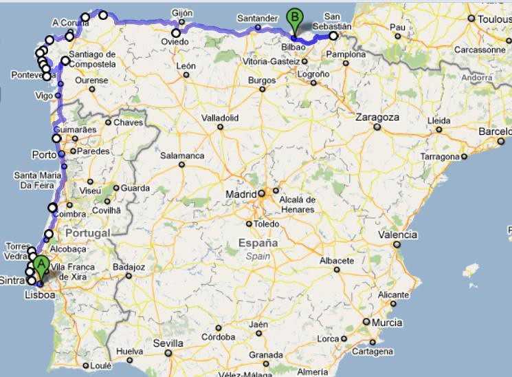 Road Map Of Portugal And Spain.Please Help Plan Our Portugal And Spain Road Trip Route Flickr