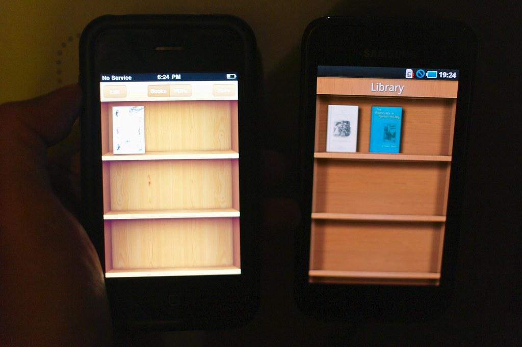 Apple iBooks vs  Aldiko e-Book | Maxis Samsung Galaxy S in M