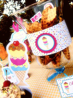vintage ice cream candy sweet party supplies printables paper goods1