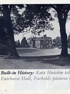 Fairhurst Hall 1960's
