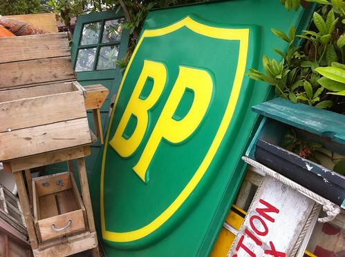 BP sign for sale @ flea market   by pdxmac
