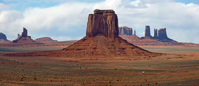 Stitched view Monument Valley from the Window