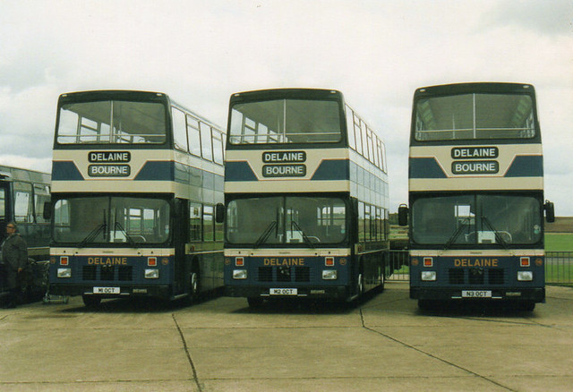 116, M1 OCT & 117, M2 OCT & 118, N3 OCT, Volvo Olympians, East Lancs Body, 1994-5 (Delaine)