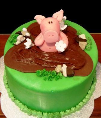 Awesome Piggy Birthday Cake Emma Flickr Funny Birthday Cards Online Necthendildamsfinfo