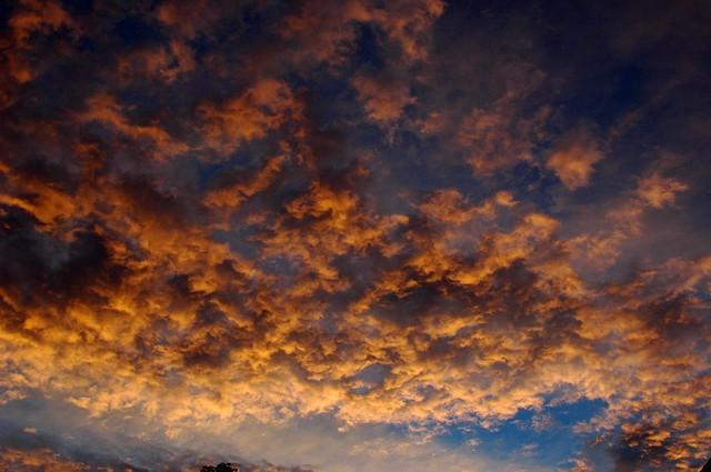 Colorado rain clouds at sunset