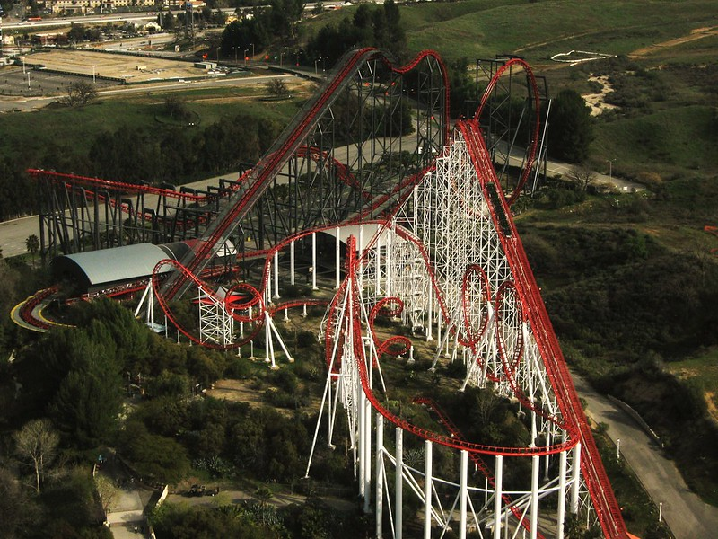 X & Viper - Six Flags Magic Mountain - California