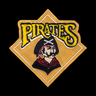 1987-1996 Pittsburgh Pirates Primary Logo Sleeve Patch