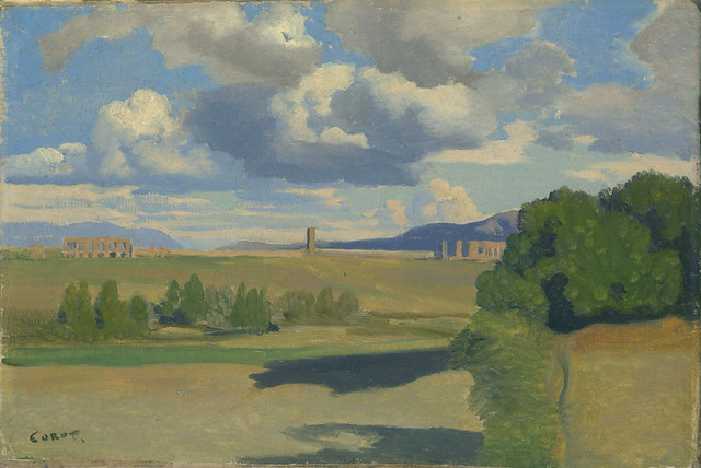Camille Corot: The Roman Campagna, with the Claudian Aqueduct (1826)