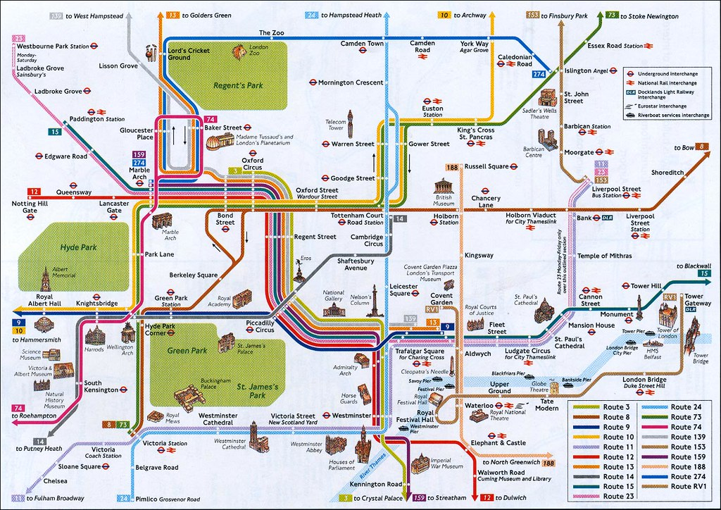 London Map With Sights.Tube And Sights Map Of Central London Andrei Mpx Ro Andrei Flickr