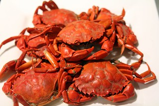 Bún riêu cua - Cooked small crabs