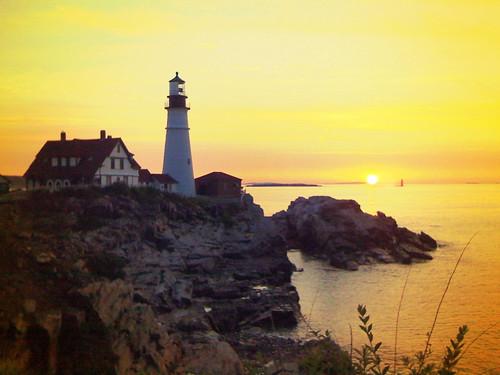 camera new sunset england portland landscape coast maine 3g headlight iphone