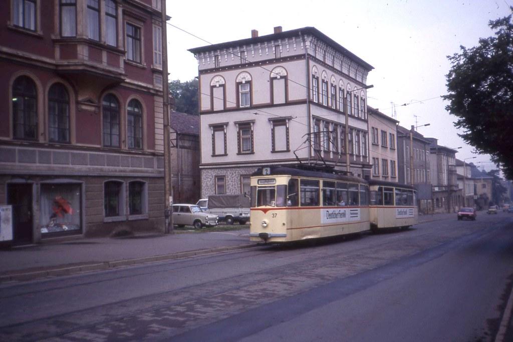 Gotha T2d Tram 37 And Trailer Linie 2 Straßenbahn Gotha Flickr