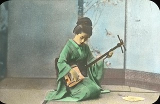 Geisha Girl Playing the Samisen | by OSU Special Collections & Archives : Commons