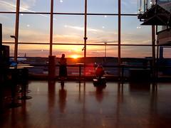 sunset at Helsinki Airport