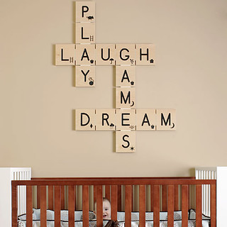 scrabble wall art | by the style files