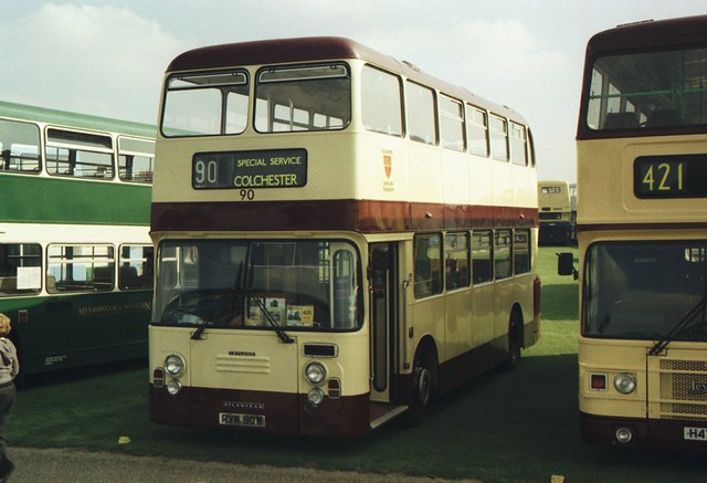 90, RVW 90W, Leyland Atlantean, ECW Body, 1981 (Ex-Colchester) (t.2008)