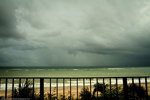 ocean storm window water rain clouds waves view florida rail palm oceanview atlanticocean verobeach costadeste
