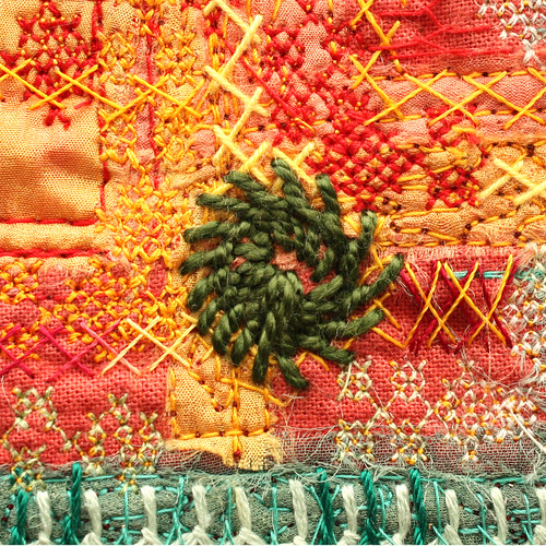 Stitched circle squared | by stitchworks-jackie
