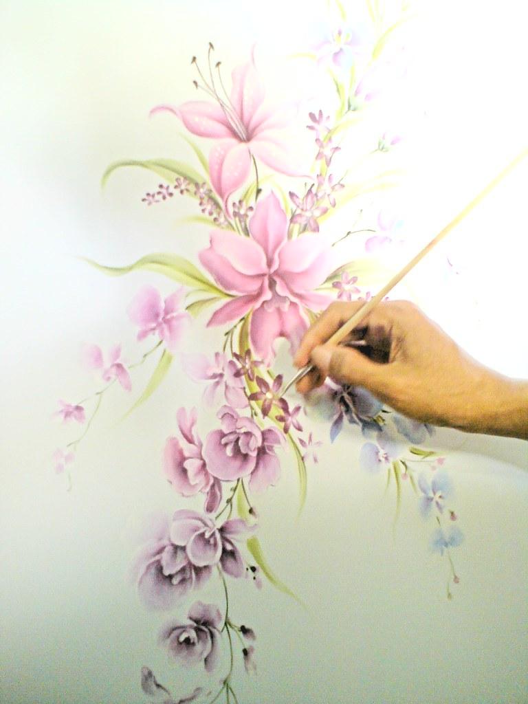 fabric painting lukis kain KERUDUNG JILBAB LUKIS dari E12CR  Flickr