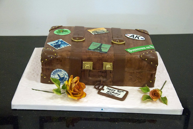 suitcase luggage cake