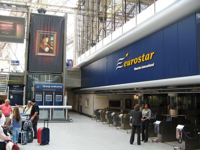 The FORMER Eurostar International Terminal at Waterloo Station, London