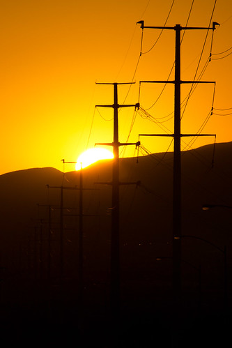 sun green tower electric sunrise energy power electricity poles