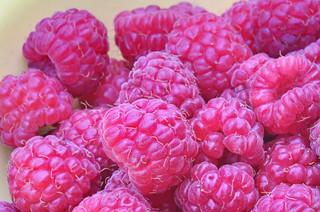 fresh raspberries   by Muffet