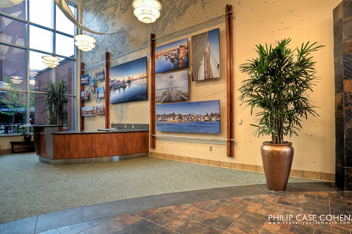 Portsmouth Regional Hospital Atrium by Philip Case Cohen