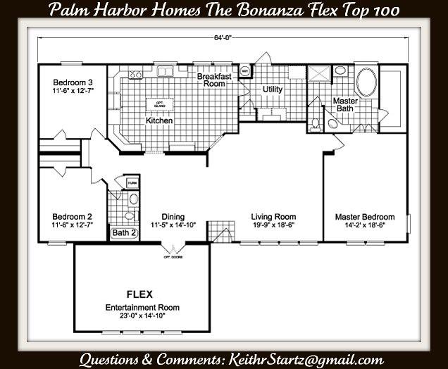 Palm Harbor Home The Bonanza Flex Top 100 | Palm Harbor Home ... on palm harbor floor plans 2007, bonanza home floor plan, palm harbor double wides, pecan palm harbor manufactured home plan, color floor plan, palm harbor community center,
