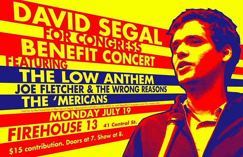 'Mericans David Segal Benefit Monday 19 July With Low Anthem | by themericans