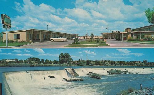 vintage postcard motel idaho idahofalls fallsview