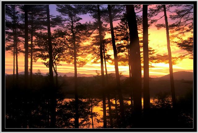 Sunset at Kezar Lake, Maine