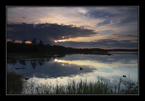 sunset sky lake canada clouds canon reflections bedford eos novascotia dusk ns tamron cokin p121 gradndfilter dansnyder lastremaininglight powdermilllake canonrebelxsi450d danrsnyder tamronspaf1750mmf28xrdiiildif rockylakedrive