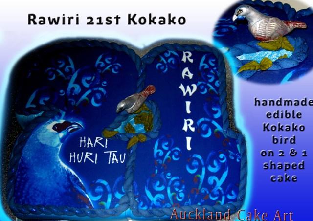 KOKAKO BIRD NEW ZEALAND 21ST BIRTHDAY CAKE