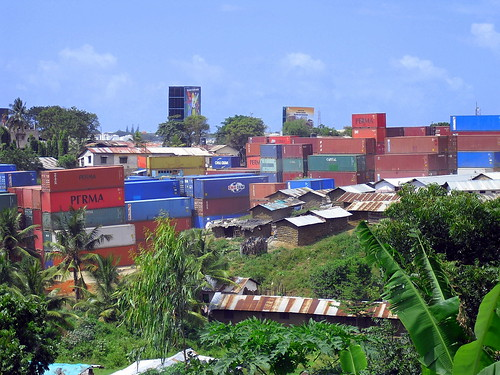 Box cars from truck company, Kibarani, Mombasa, Kenya | by The Advocacy Project