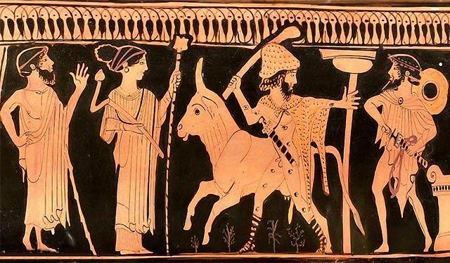 -0465 Zeus, Hera, Ío, Argos y Hermes