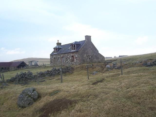 Deserted house, Cabrach, Aberdeenshire, January 2009