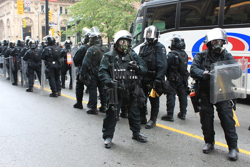 G8 / G20 Toronto 2010 Riot Police on Yonge St | by chris.huggins
