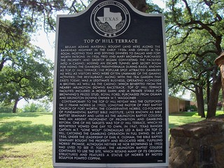 Top O Hill Terrace Arlington Texas Historical Marker